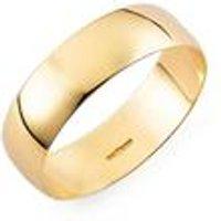 Yellow 9ct Gold Plain Wedding Band - His