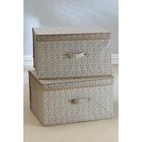 Set of 2 Large Storage Boxes - Natural Knit