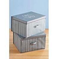 Set of 2 Large Storage Boxes - Neat and Tidy