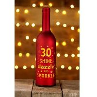 Light Up Bottle 30th Birthday