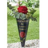 Plastic Rose Memorial Grandad