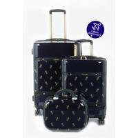 3-Piece Pineapple Print 4 Wheel ABS Luggage Set