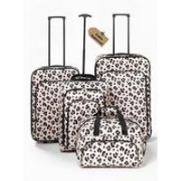 4-Piece Leopard Luggage Set