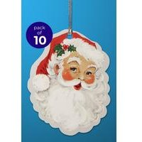 10 Vintage Santa Gift Tags