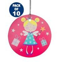 10 Pink Fairy Tags