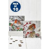 10 Winter Robin Cards