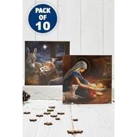 10 Christmas Nativity Cards