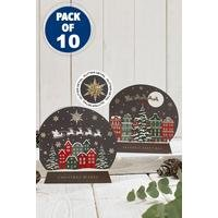 10 Snowglobe Over The Rooftops Cards