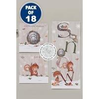 18 Woodland Cute Trio Cards