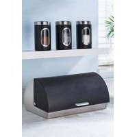 Stainless Steel Bread Bin and FREE Canisters