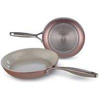 Set Of 2 Pink Frying Pans