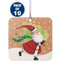 10 Skating Santa Tags