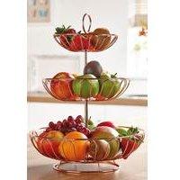 Copper Coloured 3 Tier Fruit Basket