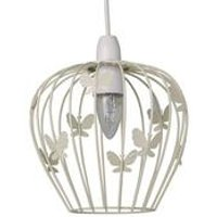 Butterfly Non Electric Pendant – Cream