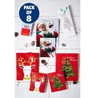 Set Of 8 Merry and Bright Gift Bags