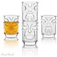 Final Touch Tiki Shot Glasses - 4 Pack