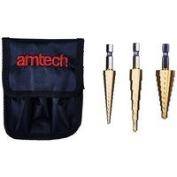 3-Piece Steel Step Drill Set