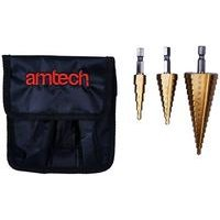 3-Piece Large Steel Step Drill Set