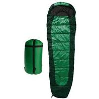 Double Layer Mummy Sleeping Bag - Green