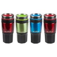 Pack of 4 x 400ml Insulated Drinks Mug with Grip