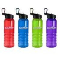 Pack of 4 Tritan Water Bottle + Folding Straw