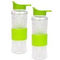 Pack Of 2 X 530ml Double Walled Gel Freezer Bottle - Green
