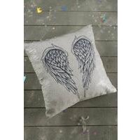 Angel Wings Sequin Cushion