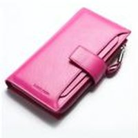 Woodland Leathers Pink Clutch Wallet