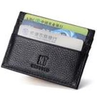 Woodland Leathers Black Credit Card Holder