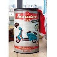 Vintage Scooter Laundry Bin