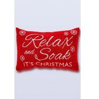 Relax and Soak Its Christmas Bath Pillow