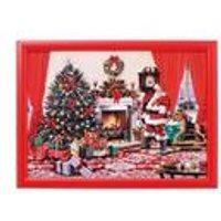 Christmas Santa Scene Lap Tray