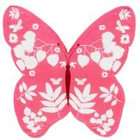 Butterfly Pink Shaped Cushion