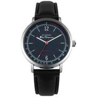 Ben Sherman Round Case and Black Strap Watch