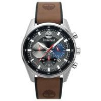 Timberland Chauncey Brown Leather Strap Watch