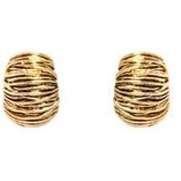 Espree Antique Gold Weave Clip On Earrings