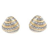 Espree Gold Antique Effect Round Clip On Earrings