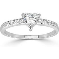Espree Solitaire CZ Heart Ring