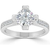 Espree CZ Mounted Solitaire Ring