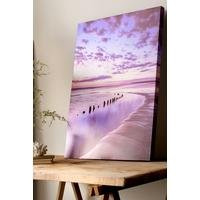 Metallic Serenity Shores Canvas