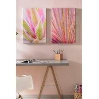 Blushed Tropics Set of 2 Canvases