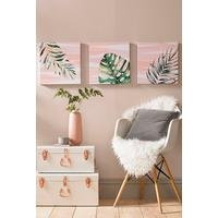 Luscious Leaves Set of 3 Canvases