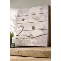Serenity Blossoms Wooden Wall Art