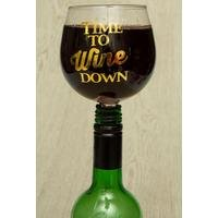 Tipple Topper Wine Glass Time to Wine Down