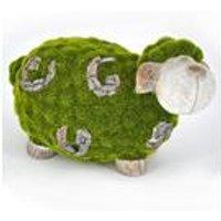 Stone-Effect Flocked Sheep Garden Ornament