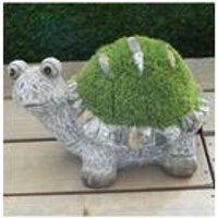 Stone-Effect Flocked Turtle Garden Ornament