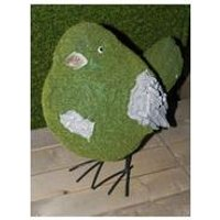 Stone-Effect Flocked Pigeon Garden Ornament