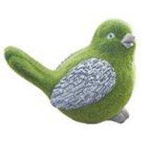 Stone-Effect Flocked Bird Garden Ornament
