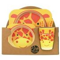 Giraffe Kids 5 piece Bamboo Dinner Set