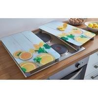 2 Glass Hob Cover Plates